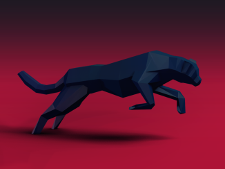 low-poly-cheetah-red